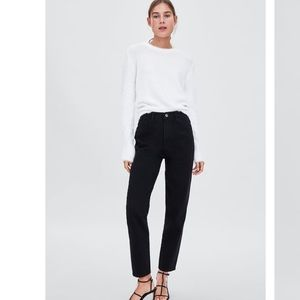Classic mom fit hi-rise ankle length jeans